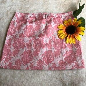 NWT loft floral speckled skirt size 16